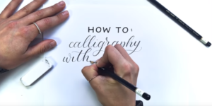 Calligraphy With A Pencil
