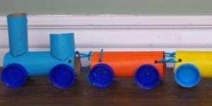 Toilet Roll Train